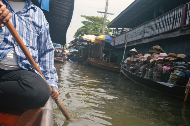Floating Market in South-East Asia