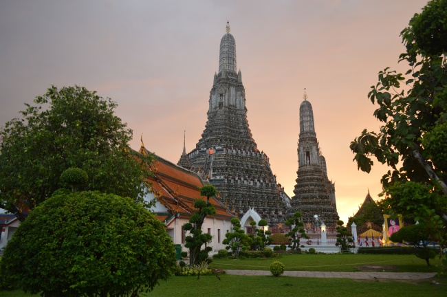 Two Towers of a Buddhist Thai Temple