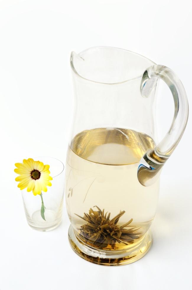 Blooming Tea Before Being Fully Brewed