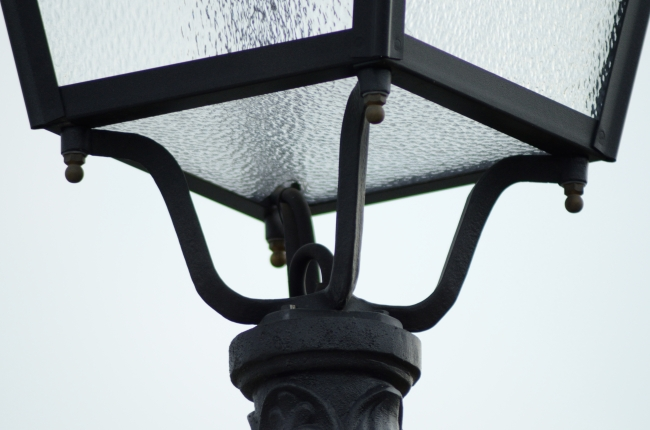 Old Style Electric Public Lighting during Daytime