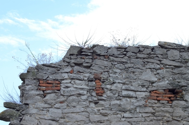 Stone Wall Texture and Blue Sky
