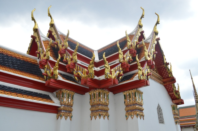 Ornamented Roof of an Asian Buddhist Temple