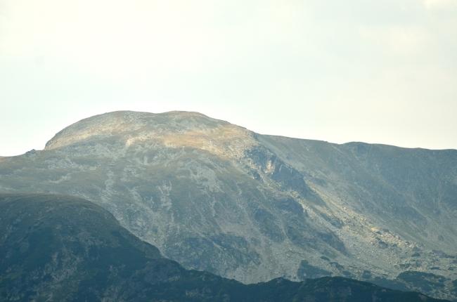 Sunlight over a Rocky Mountain