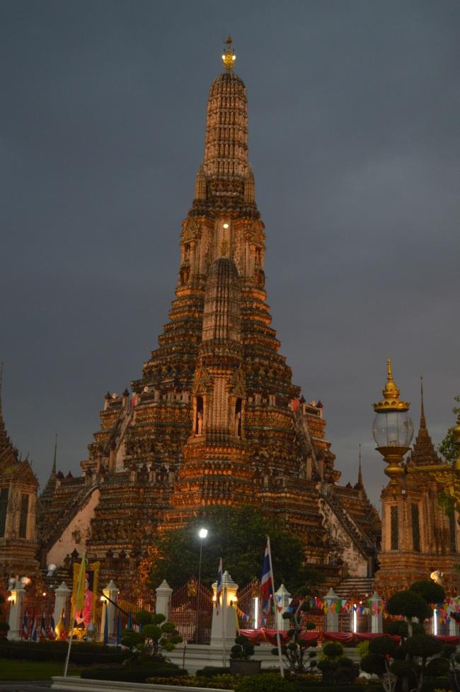 Buddhist Temple before the Nightfall