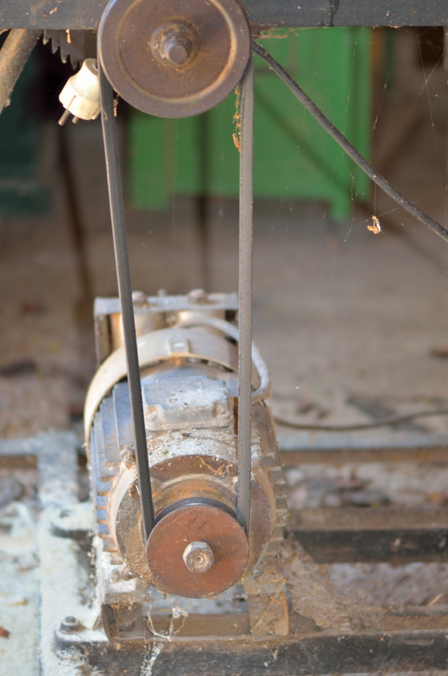 Electric Engine of a Wood Saw