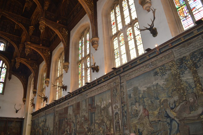 Hampton Court Great Hall with Paintings