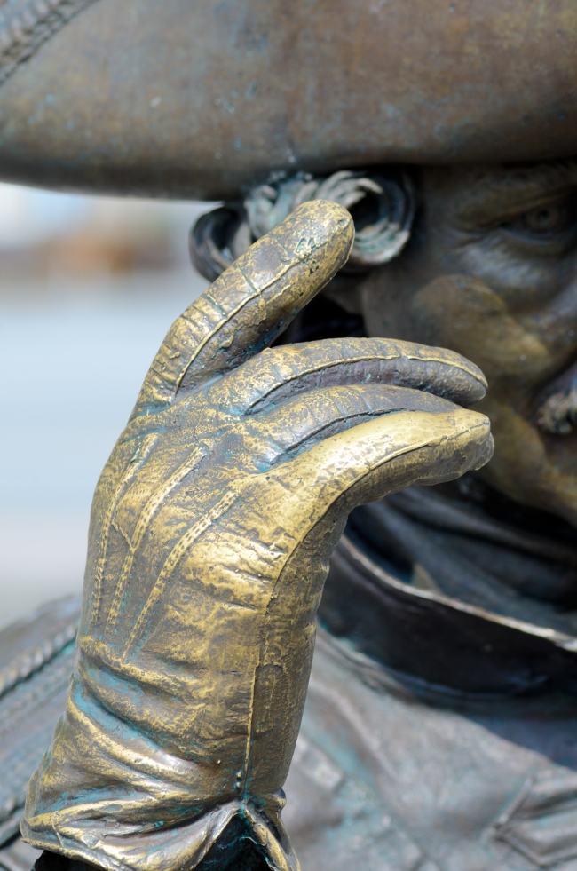 Bronze Statue Representing an Admiral - Close-Up