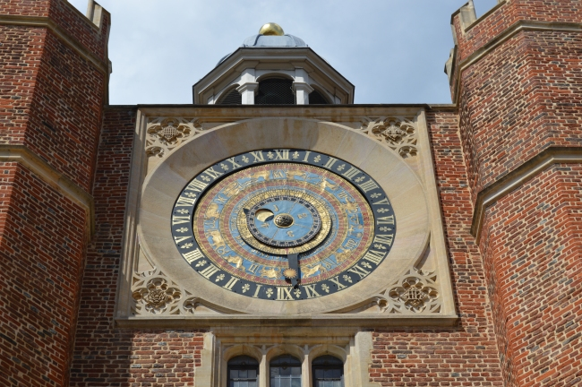 Zodiacal Clock with Inscriptions at Hampton Court, UK