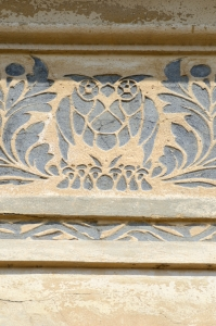 Simple Owl Ornament on Building