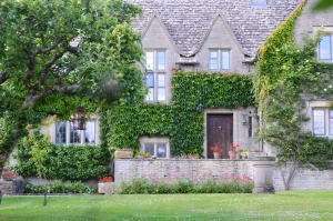 House Covered with Ivy in Bibury, UK