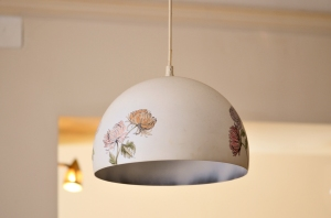 Flowers on a Lampshade