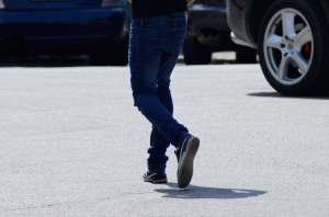 Passer-By in Jeans