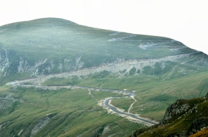 Road on a Mountain at High Altitude