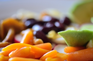 Avocado and Carrots in Colorful Salad