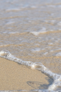 Sand with Transparent Wave