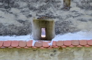 Medieval Window through a Stone Wall