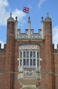 Hampton Court with British Flag