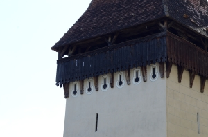 Wooden Roof of a Tower