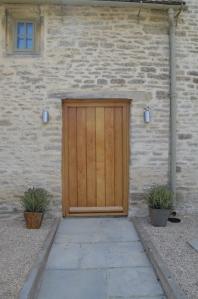 House with Simple Wooden Door