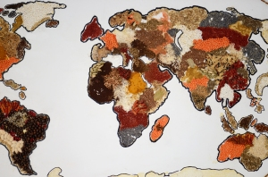 Colorful Spices on a Map