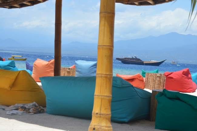 Sofas and Armchairs on the Beach in Asia