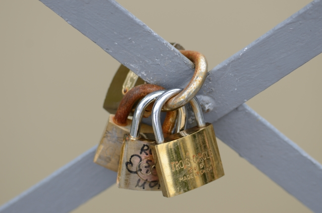 Love Padlocks with Sweethearts