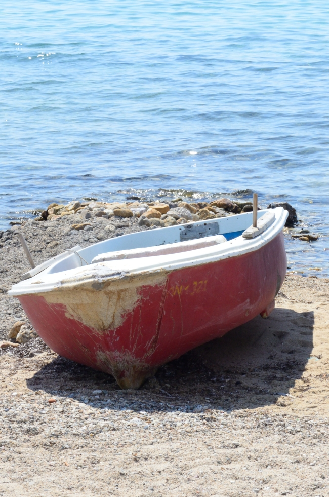 Boat near the Ocean on a Sunny Day
