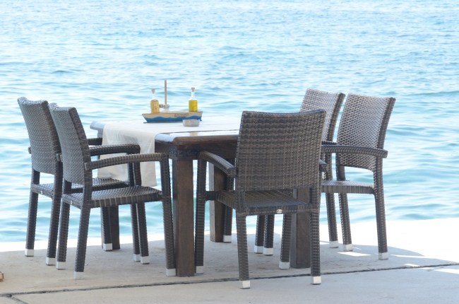 Table and Chairs on a Beautiful Sunny Day