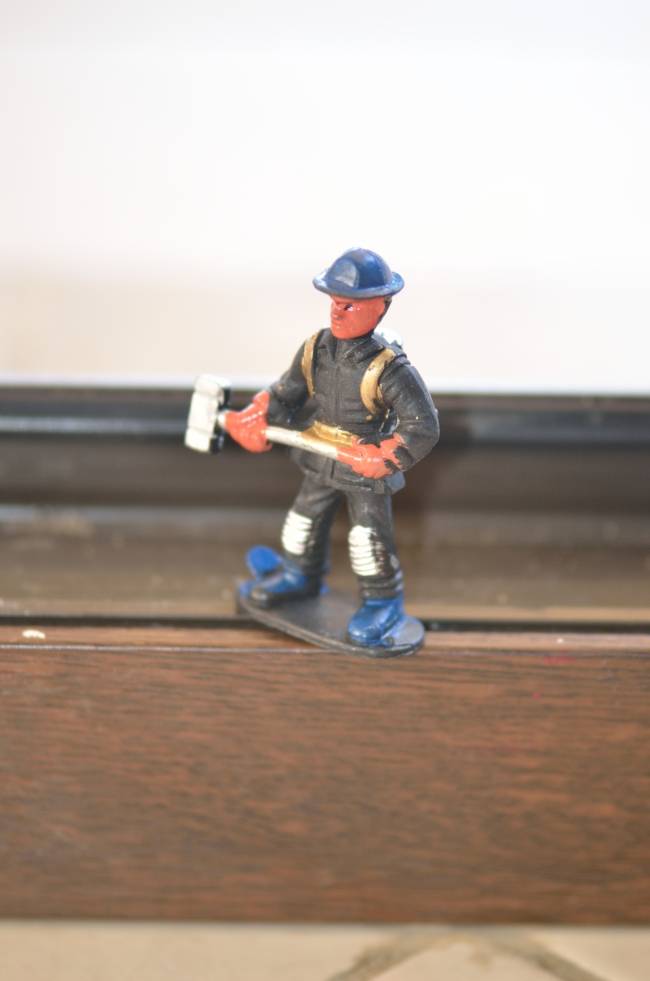 A Miner Worker Figure on the Table