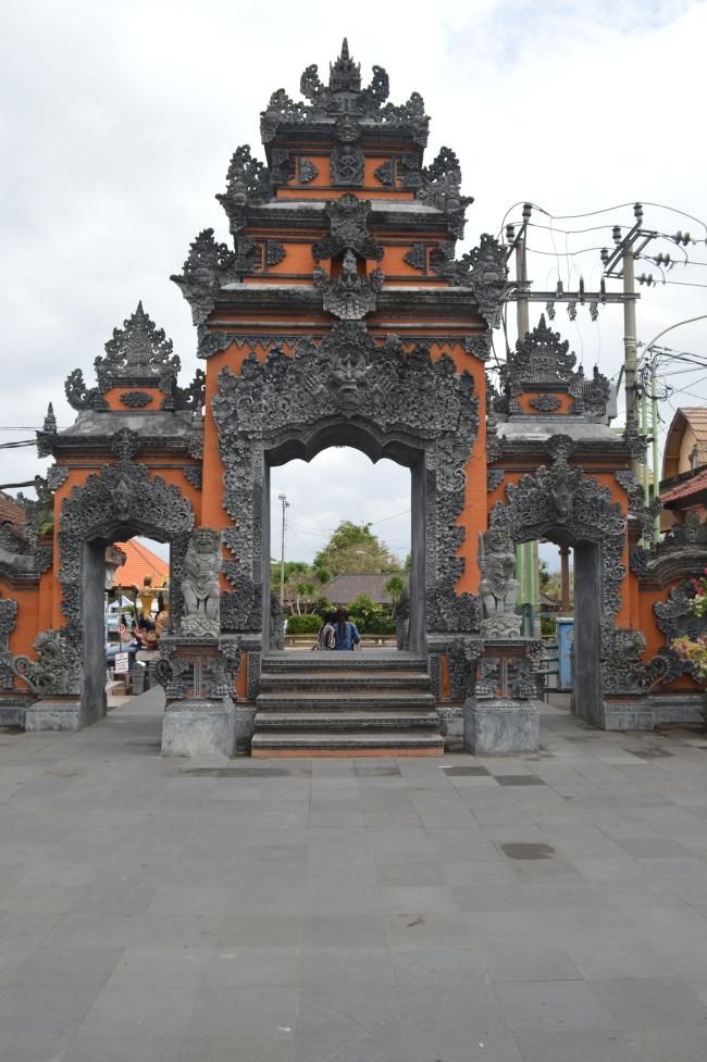 Asian Temple Gate with Ornaments