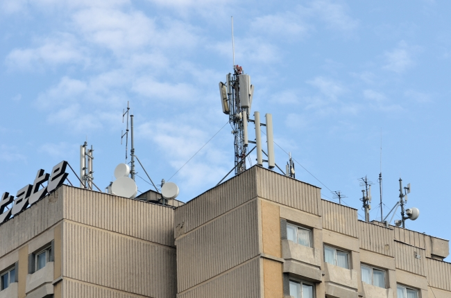 Antennas on a Building