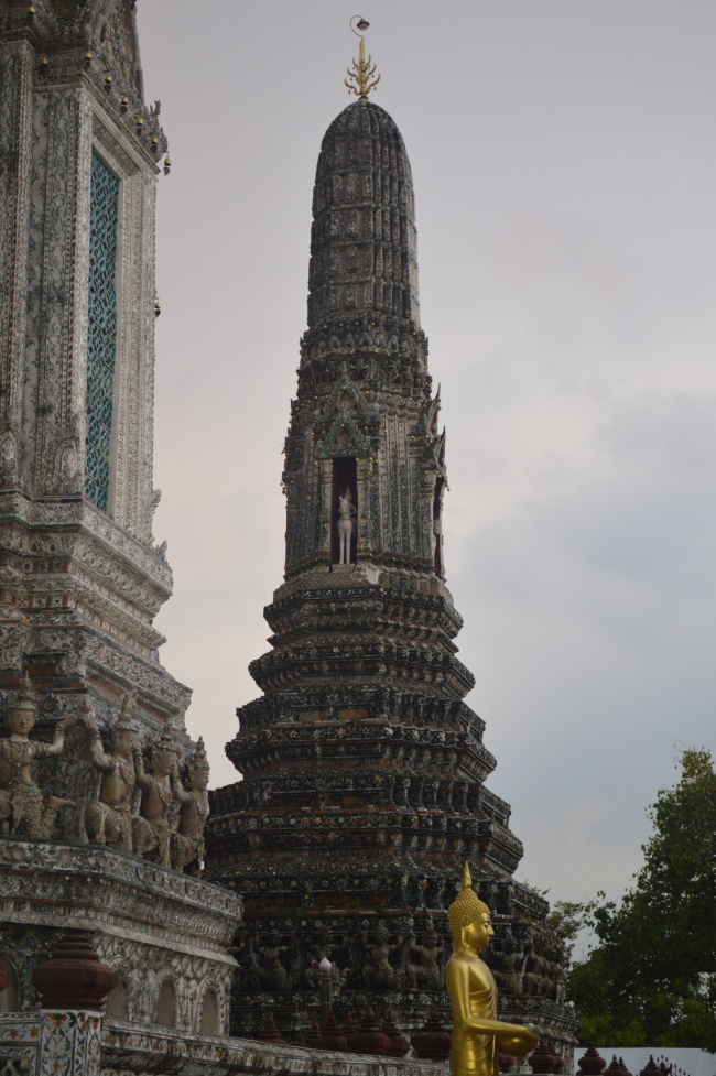 Buddhist Temple Tower with Ornaments