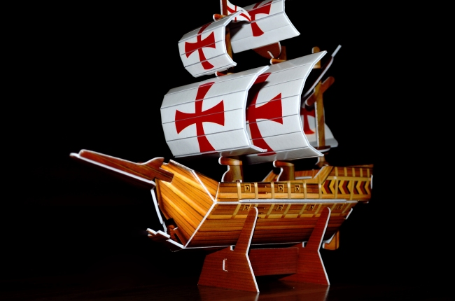 Sailboat with Red Model