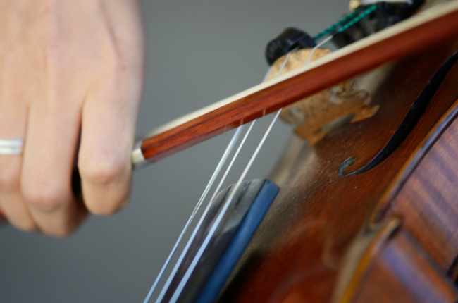 Violin and Bow Used by a Young Artist