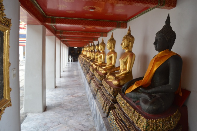 Statues in a Thai Buddhist Temple - Lateral Look