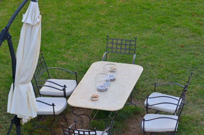 Outdoor Iron Table and Chairs
