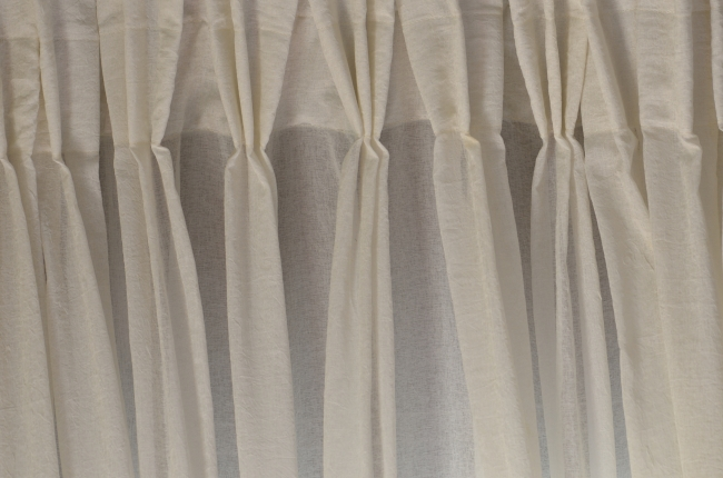 White Curtain Made of Fabric