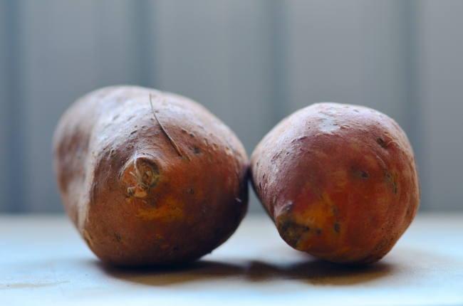 Two Sweet Potatoes Close-Up
