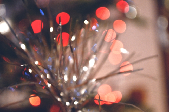 Beautiful Tinsel Bokeh