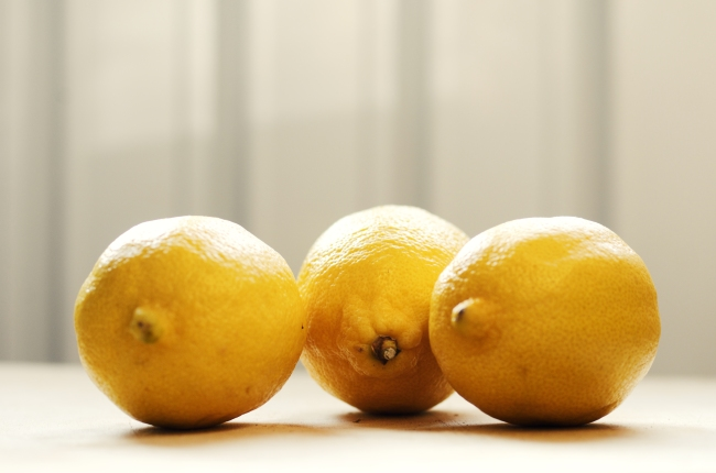 Group of Fresh Lemons