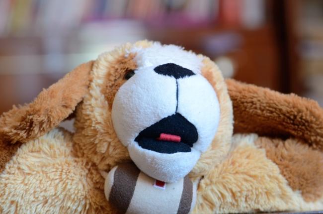 Small St. Bernard Dog Stuffed Toy