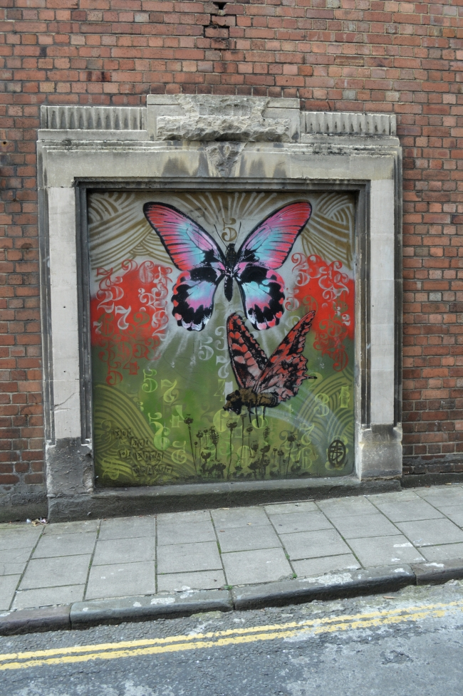 Butterfly Graffiti on a Wall
