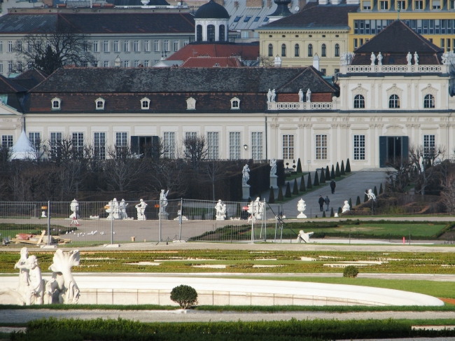 Lower Belvedere with Statues