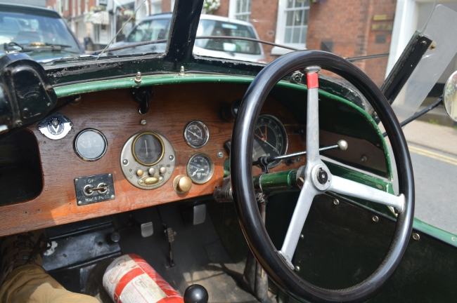 Board of a Vintage Car