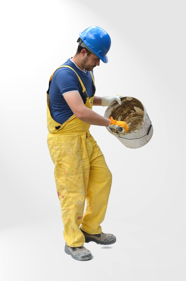 Young Worker with Yellow Jumpsuit