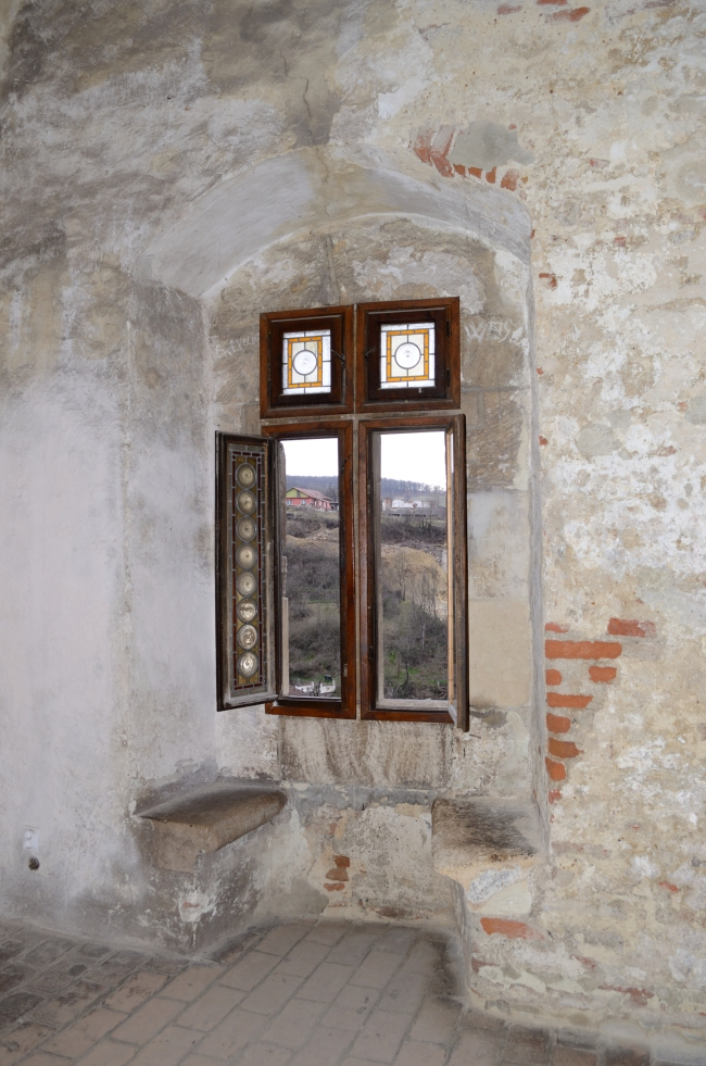 Open Window in Old Building