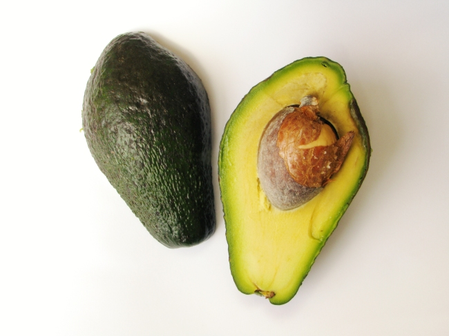 Avocado Fruit with Seed Exposed