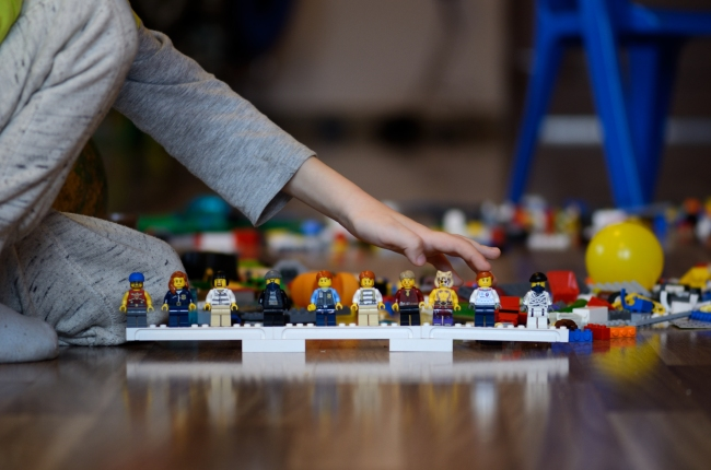 Child Counting LEGO People