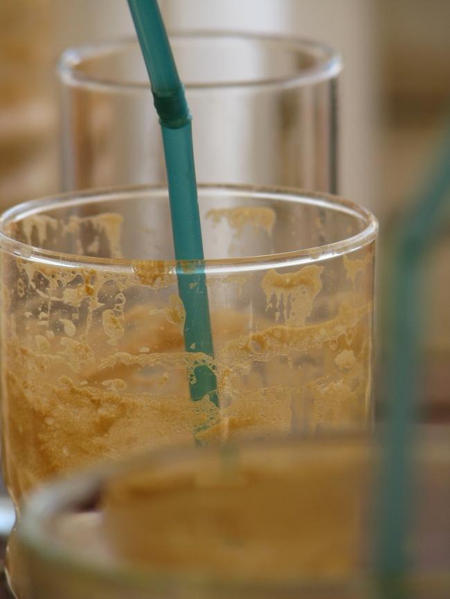 Dirty Glass with Dirty Straw