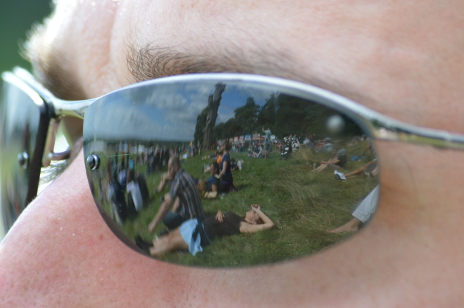 People Reflected on Sunglasses